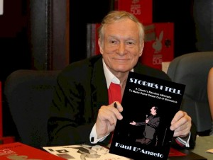 zHugh Hefner with Book