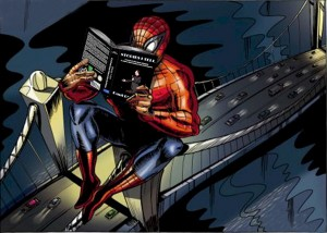 zSpiderman with book
